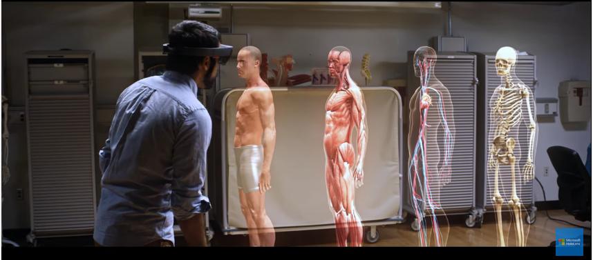 HoloLens : l'anatomie en 3D grâce à la réalité augmentée